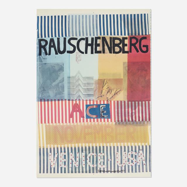 Robert Rauschenberg, 'Ace, November, Venice USA poster', 1977, Wright