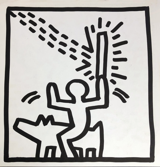Keith Haring, 'Keith Haring (untitled) Laser Beam lithograph 1982', 1982, Lot 180