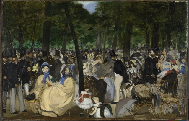 , 'Music in the Tuileries Gardens,' 1862, The National Gallery, London