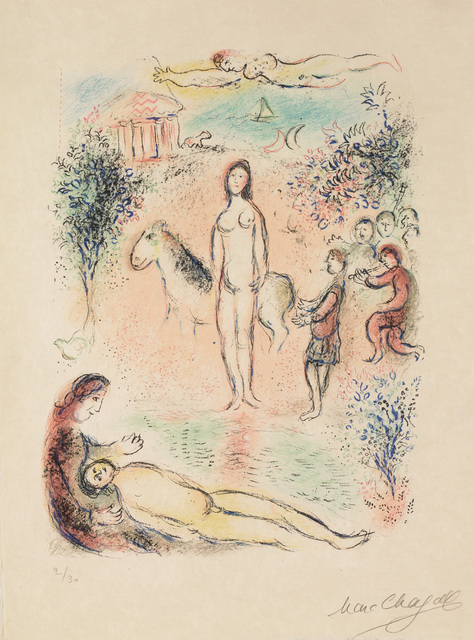 Marc Chagall, 'Frontispiece, Second Volume (M.788, L'Odyssée)', 1974, Martin Lawrence Galleries