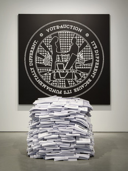 , '[V]ote-Auction 700Kg,' 2005, Carroll / Fletcher