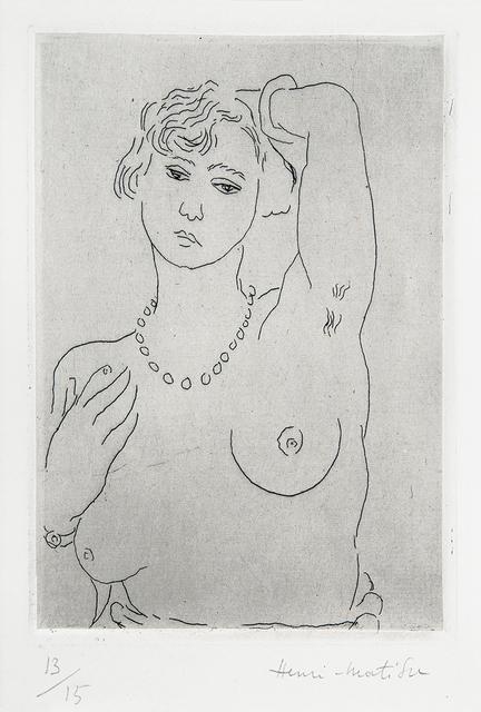 , 'Buste de femme avec collier et bracelet,' 1926, Lyndsey Ingram