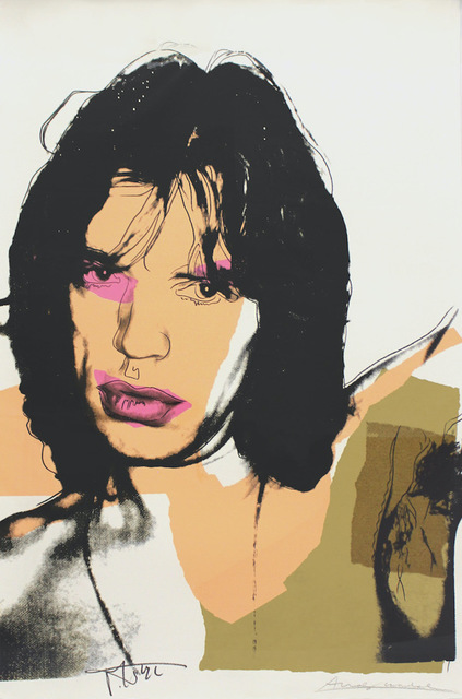 Andy Warhol, 'Mick Jagger (FS II.141) ', 1975, Print, Screenprint on Arches Aquarelle (rough) Paper, Revolver Gallery