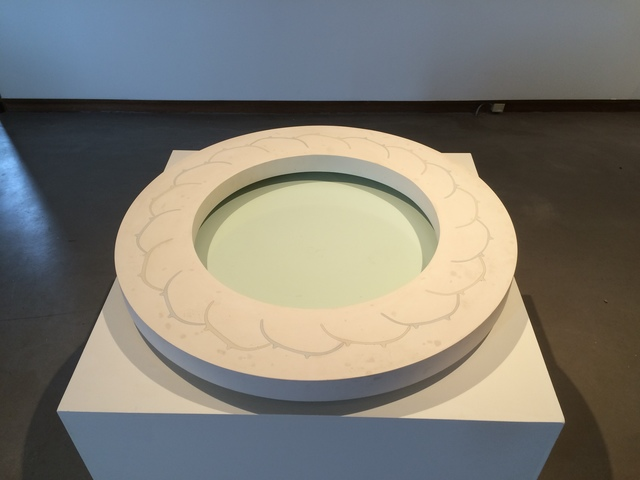 Thomas Lowell Edwards, 'Eighteen Alternating', 2014, Sculpture, Wheel thrown porcelain altered post firing, embedded in gypsum cement and polished, Linda Matney Gallery
