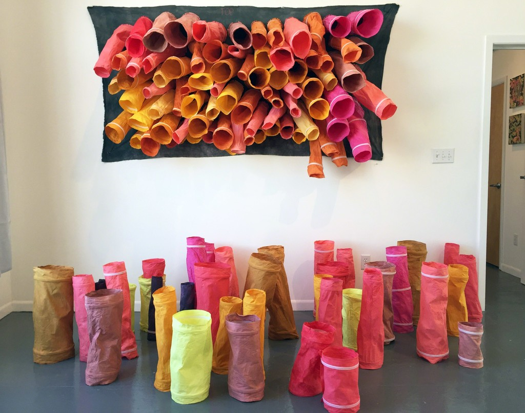 """Top,"" an installation by Aida Gamez, inspired by shirtsleeves and moving on from there."