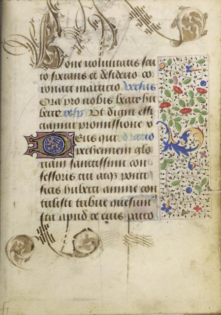 Nicolas Spierinck, 'Decorated Text Page', 1469, J. Paul Getty Museum