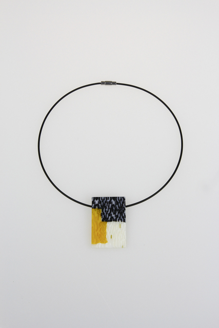 , 'Bright Yellow Rectangle Pendant,' , Bullseye Projects