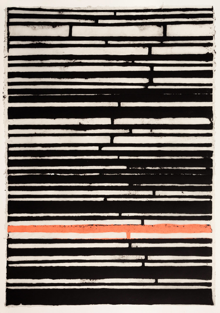 , 'Black Stripes with Pink One,' 2015, Callan Contemporary