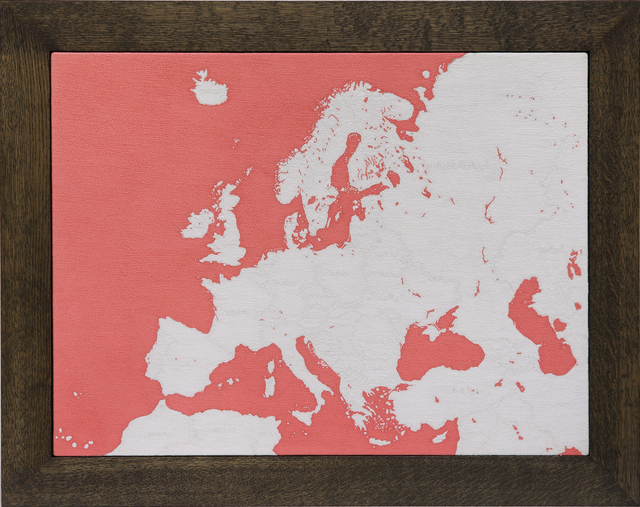 , 'Map of Europe,' 2016, Mizuma Art Gallery