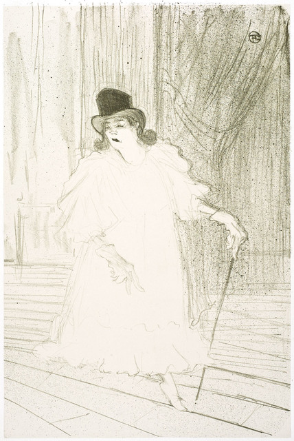 Henri de Toulouse-Lautrec, 'Cecy Loftus', 1895, Print, Original lithograph printed in dark green ink on chine appliqué (China paper mounted on stiff wove paper)., Christopher-Clark Fine Art