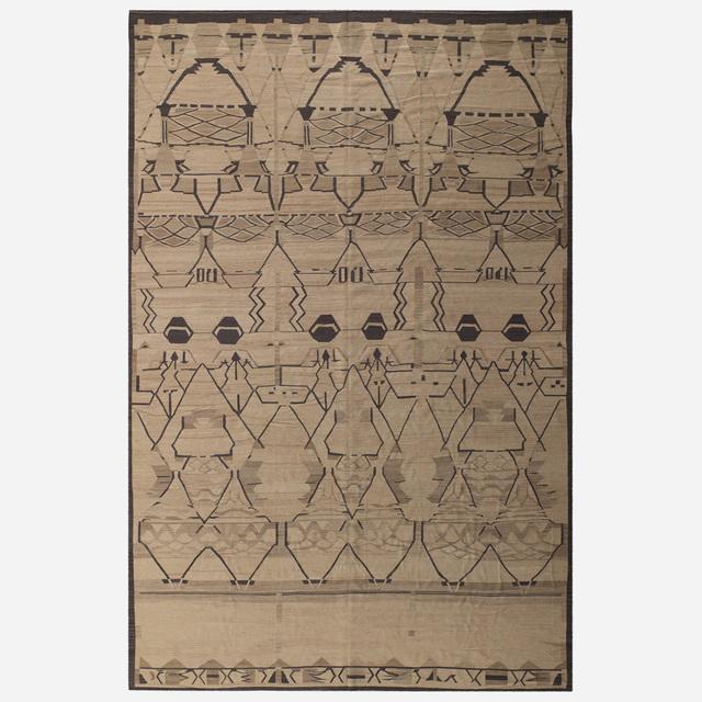 'flatweave carpet', c. 2000, Textile Arts, Hand-woven wool, Rago/Wright