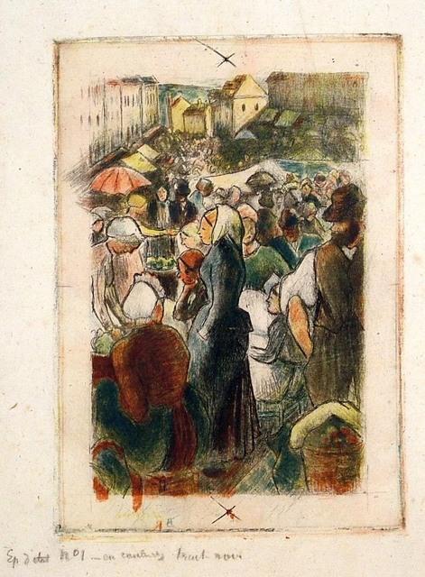 , 'Marche de Gisors (Rue Cappeville); definitive state,' 1894, Harris Schrank Fine Prints
