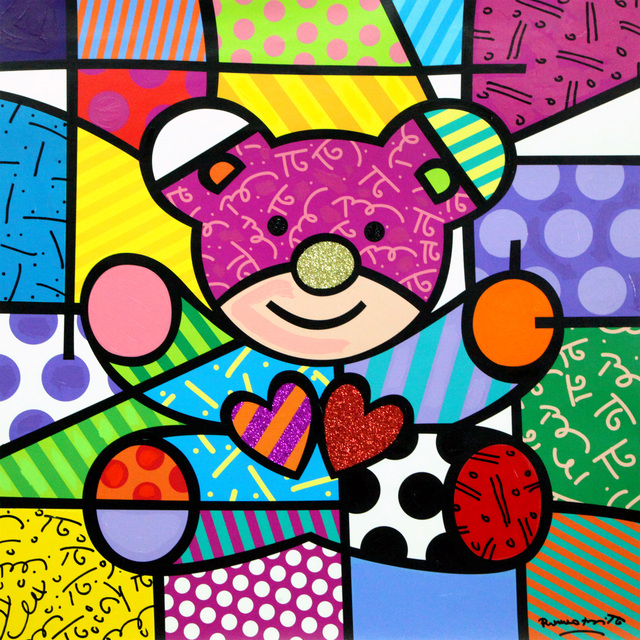 Romero Britto, 'Teddy Bear', 2018, Castle Fine Art