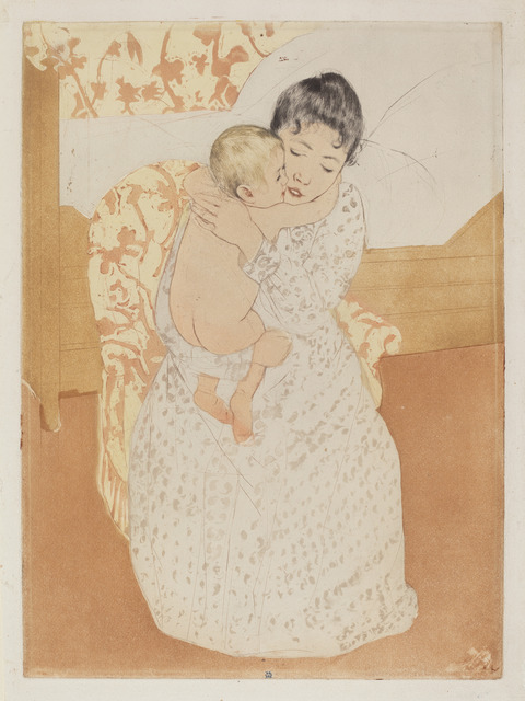 Mary Cassatt, 'Maternal Caress', ca. 1891, National Gallery of Art, Washington, D.C.