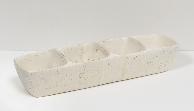 , 'Small Partitioned Trough (white),' 2016, Jane Hartsook Gallery
