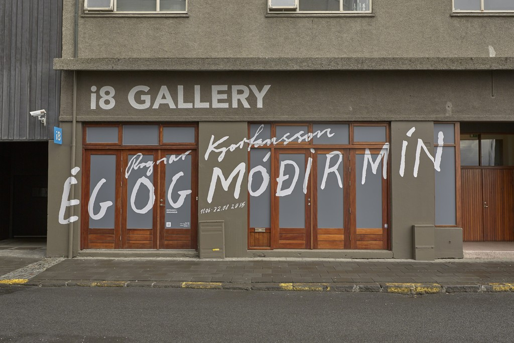 i8 Gallery - Exterior view for the show: Ragnar Kjartansson: Me and My Mother