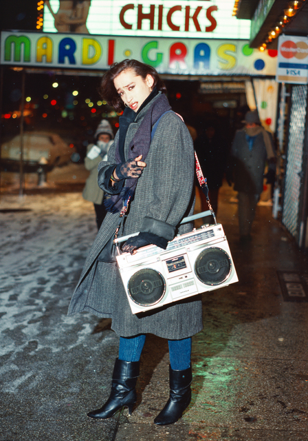 Robin Graubard, 'guy with boombox – Times Square', 1985, Office Baroque