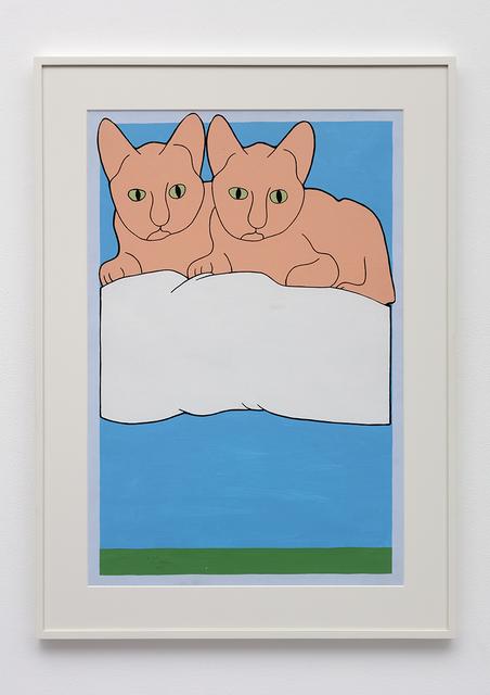 , '2 Cats,' 1975, David Kordansky Gallery