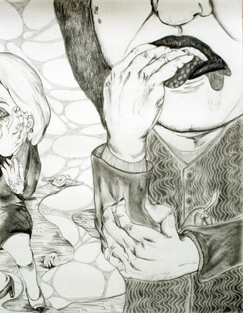 Chiaki Kamikawa, 'Candy Disease', 2007, Drawing, Collage or other Work on Paper, Graphite on paper, Japigozzi Collection