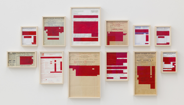 , 'Bureaucratinc Paintings (Red) ,' 2017, Galerija Gregor Podnar
