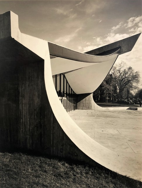 Pedro E. Guerrero, 'Yale Skating Rink, Entrance Exterior, New Haven, CT (Eero Saarinen, Architect)', 1958, Edward Cella Art and Architecture