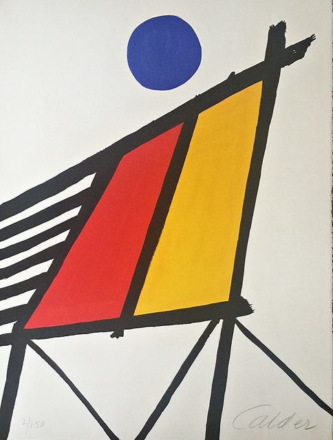 Alexander Calder, 'Blue Sun from Conspiracy: The Artist as Witness', 1971, Print, Six color lithograph on watermarked Arches paper with deckled edges, Gallery Highlights