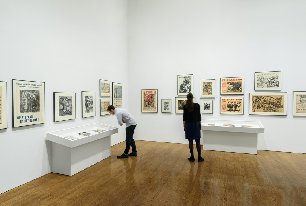 "Installation photograph of ""Paint the Revolution: Mexican Modernism 1910-1950"" Courtesy of the Philadelphia Museum of Art. 2016."