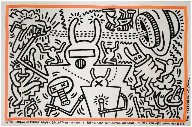 Keith Haring, 'Robert Fraser Gallery Poster', 1983, Rhodes
