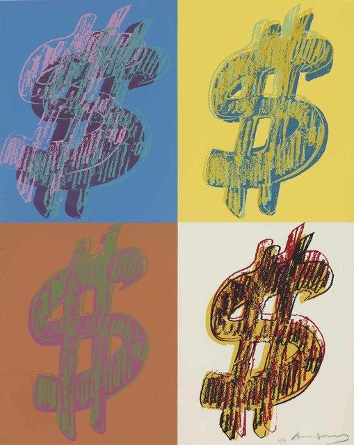 Andy Warhol, '$ (Quadrant): one plate', 1982, Christie's