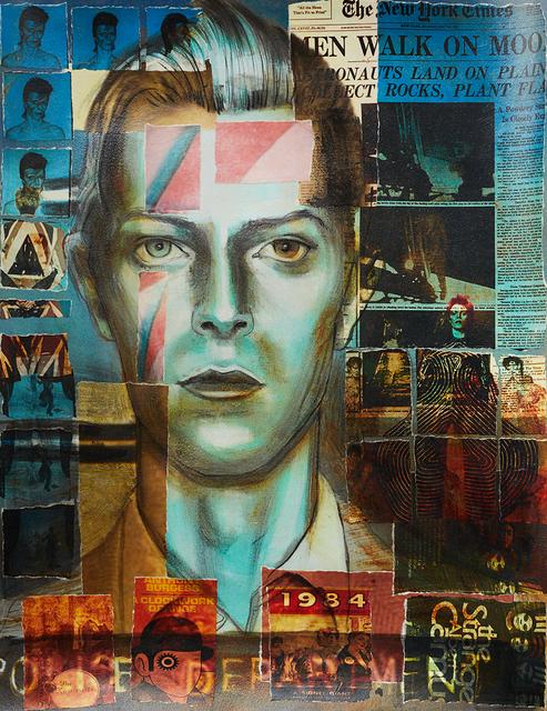 , 'David Bowie (Collaged Print #1),' 2018, Hudson Milliner Art Salon