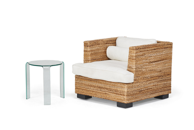 Contemporary Lounge Chair and Side Table