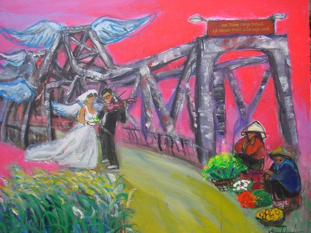 , 'Blue Wings of Long Bien Bridge,' 2013, Art Vietnam Gallery