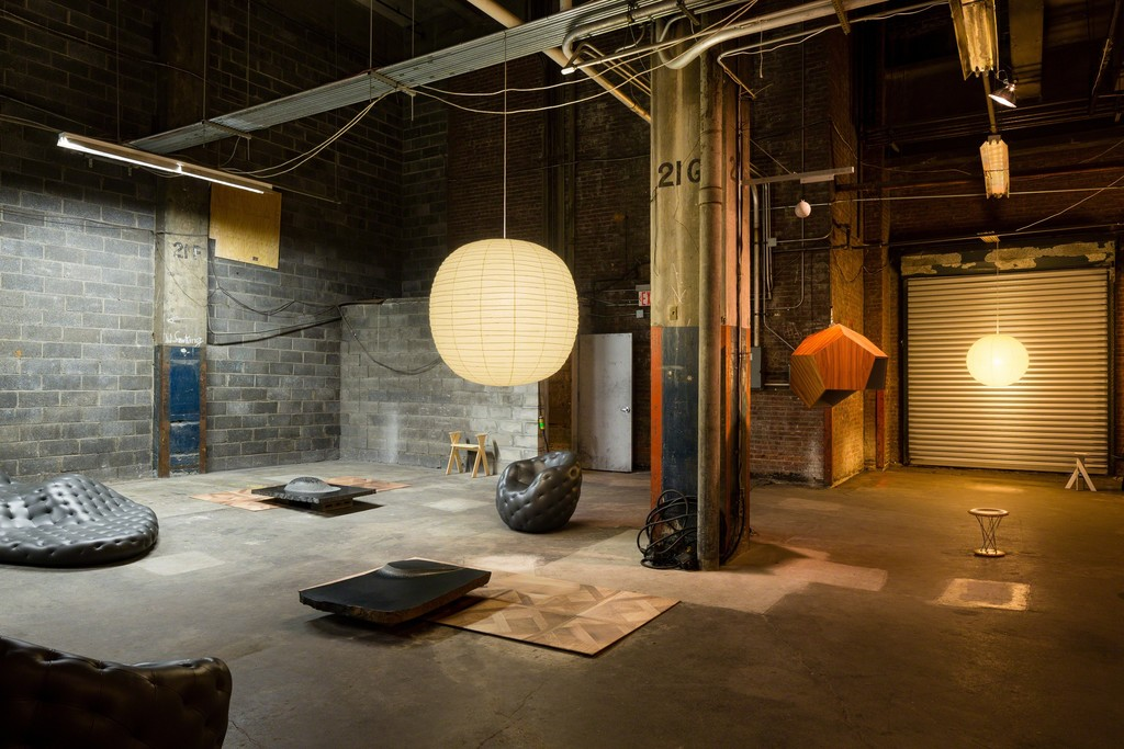 'Waiting Room: Noguchi/Stadler,' Collective Design Fair, May 3–7, 2017, New York City. Courtesy Robert Stadler / Carpenters Workshop Gallery and Collection of The Isamu Noguchi Foundation and Garden Museum / Artists Rights Society (ARS). Photo: Nicholas Knight.