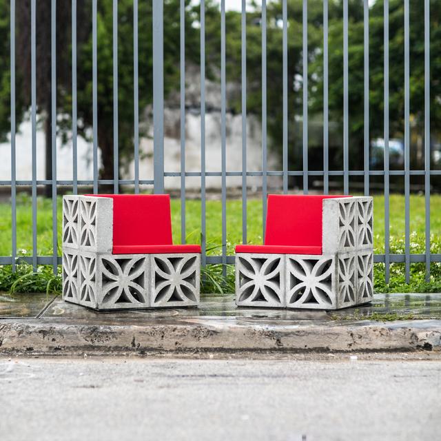 , 'Flower Block Unit, Chairs,' 2014, Nina Johnson