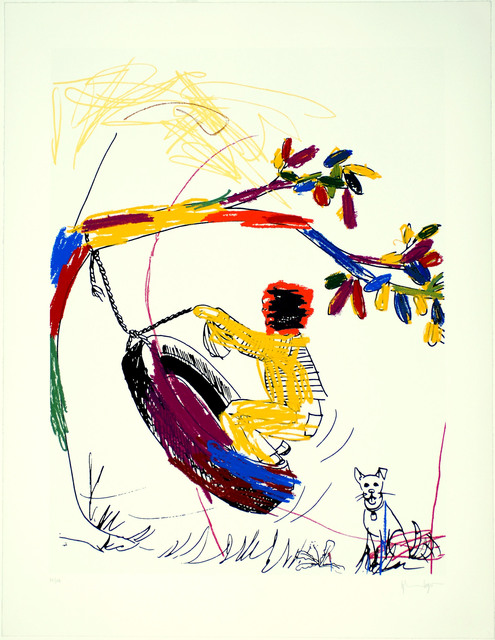 , 'Boy on Tire,' 2004, Bill Hodges Gallery