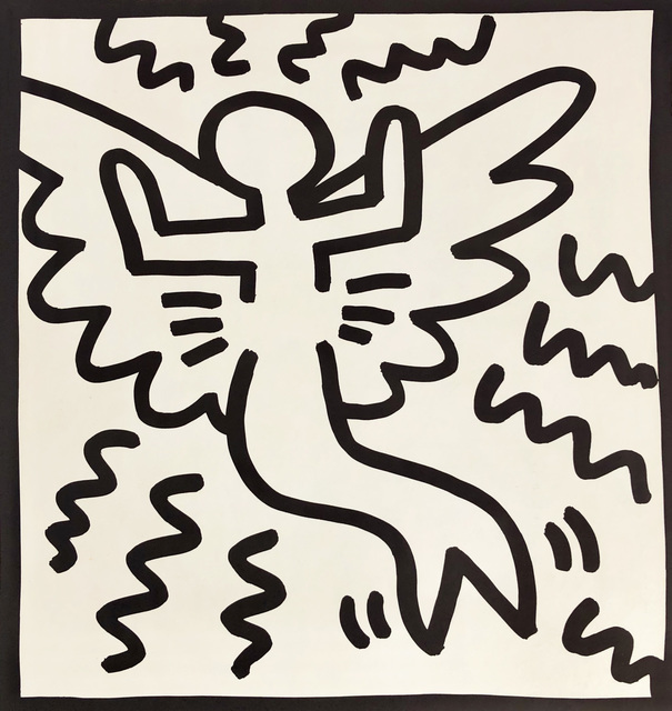 Keith Haring, 'Keith Haring (untitled) angel lithograph 1982', 1982, Lot 180