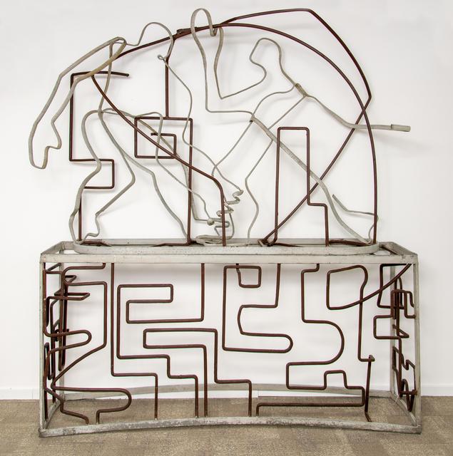 Germán Cueto, 'Obreros trabajando', ca. 1950, Sculpture, Mixed technique. Construction iron and rods, and painting, Galeria Freijo