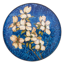 Wall-hanging charger with dogwood blossoms, New York