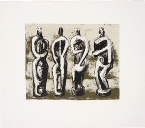 Henry Moore, 'Four Standing Figures,' 1978, Phillips: Evening and Day Editions