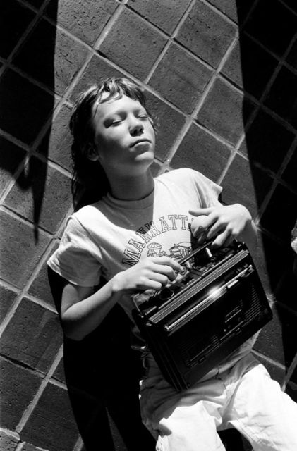 , 'Teenage Boy listening to the radio, New-York City,' 1976, Galerie Esther Woerdehoff