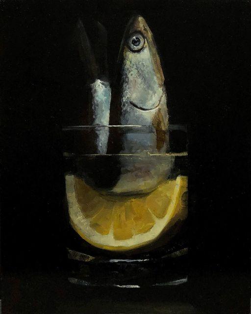 Tom Giesler, 'Floral 46: anchovy lemon', 2021, Painting, Oil on panel, McVarish Gallery