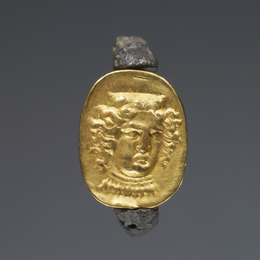 'Hollow scarab in swivel ring',  mid-4th century B.C., J. Paul Getty Museum