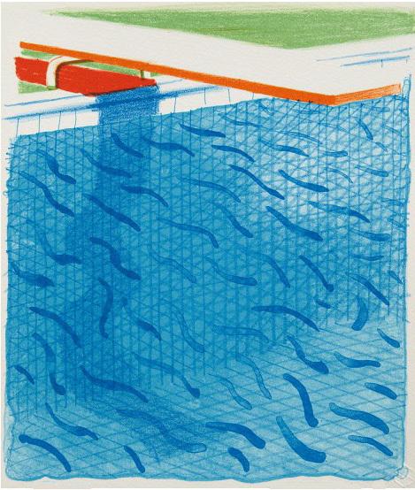 David Hockney, 'Paper Pool', 1980, Kenneth A. Friedman & Co.