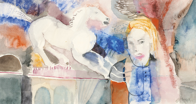 , 'Girl with Horse,' 1970, Galerie Bei Der Albertina Zetter
