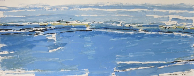 , 'Blue Summer, East Head ,' 2017, Rebecca Hossack Art Gallery