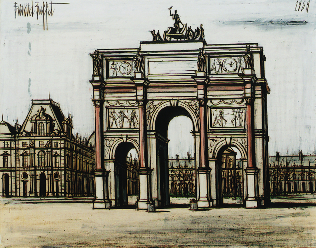 Bernard Buffet, 'Le carrousel du Louvre', 1989, Opera Gallery