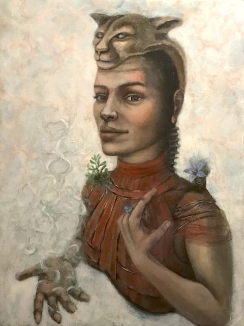 Deborah Caiola, 'The Leader', 2018, Painting, Mixed media painting (digital transfer, acrylic, pencil, oil), InLiquid