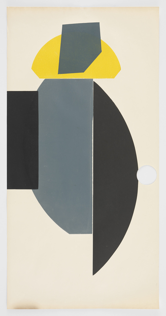 , 'Hole Yellow Black Gray,' 2016, Morgan Lehman Gallery
