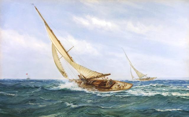 Montague Dawson, 'A Close Race', Mark Murray Fine Paintings