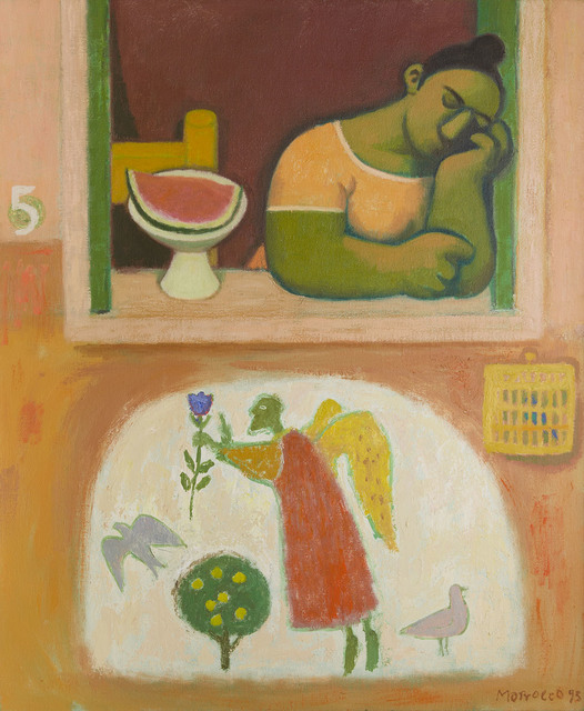 , 'Woman in the Window with Dove,' 1995, The Scottish Gallery